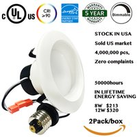 best downlights - USA stock W W LED Downlights for Indoor Lighting Best aluminum Material Energy star cUL UL inches White Downlights for Decorations