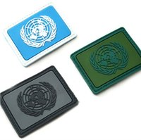 army patches lot - UNITED NATIONS NATIONS UMIES UN Flag PVC Patches Rectangle Tactical Hook And Loop Armband Badge Black Coyote Army Green