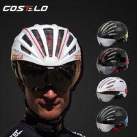 Wholesale costelo SPEEDairo Bicycle Cycling Helmet Bike Helmet Goggles Ciclismo Capacete para Bicicleta velo bici helmet glasses
