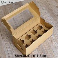 Wholesale 20pcs cm Brown Gift Packaging Kraft Paper Box Jewelry Wedding Bakery Baking Cake Handmade Soap Packing PP706