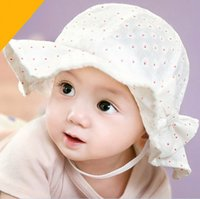 baby boy bucket hat - Baby Girl Boy Hat Summer Kids Hats Bowknot Flora Sunbonnet Babies Caps Bucket Hat Open Crowning Design Princess Beach Cap Color K7234