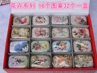 Wholesale ON Sale vintage small flowers cake series quality iron case storage case tin box per