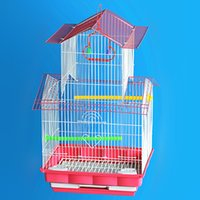 big pet birds - 2016 New Big iron birds cages Large glass cage bird small animal cage pet cage
