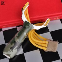 Wholesale Kids Toys Outdoor Stainless Steel Plastic Handle Powerful Slingshot Catapult Bow Shot Tool Hunting Aim Competition Game