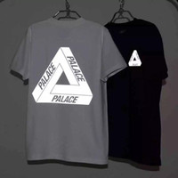 Wholesale 2016 New Men s M Reflective Palace Skateboards T Shirt Good Quality Cotton Hip Hop Palace T Shirt Men Palace Tee Tshirt