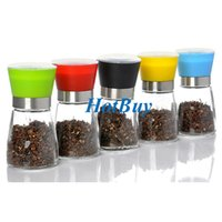 Wholesale High Quality Salt Pepper Spice Corn Grinder Set Spice Herp Glass Refillable Hand Mill Manual Grinding Kitchen Accessories