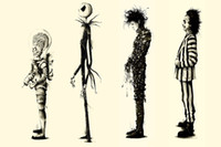 beetlejuice movie - 2016 Free Ship Tim Burton Movie Beetlejuice Edward Scissorhands Movie Poster Fabric Silk Poster Print Great Pictures On The Wall For Gift