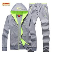 badminton chinese - New Leisure Chinese team sportswear Men s clothing soft Cotton tops sports Jacket caots Pants