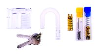auto tricks - New Model Educational Toy Repeated Assemble Transparent Padlock with Keys Inserted challenge Tricks For Beginner Traning Locksmith Tools