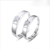 Wholesale The Korean version of S925 silver ring opening couple silver jewelry silver retro minimalist JZ022