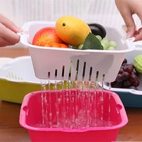 Wholesale Creative Home Drain Basket Storage Baskets Home Baskets Vegetables Daily Double Drip Drain Basket Fruit Basket Fruit Plate