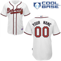Wholesale Atlanta Braves custom jersey customized jerseys customizing shirt custom made shirts embroider stiched top quality customize stich tops