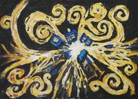 Wholesale Doctor Who Tardis Exploding TV Silk Poster