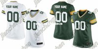 authentic packers jerseys - 2016 Custom Women s Green Bay Packer Green White Game Football Home Away Personalized Jerseys Authentic High Quality Stitched Wear