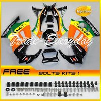 Wholesale Injection Mold Fairing Kit With Tank Cover Fits CBR600 F3 CBR Repsol Orange ZH186