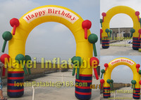 Wholesale 3 m Inflatable Birthday arch for baby birthday party with blower
