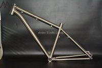 bmx bike - Manufactruing high quality gr9 Ti3al2 v titanium mountain mtb bike frame disc brake in stock for sample test