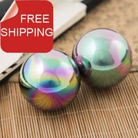baoding china - mm45mm chime baoding iron balls w unique titanium in glass color Good for home gift and daily use Paper box