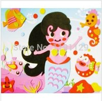 Wholesale Big size EVA D handmade EVA foam puzzles drawing stickers children s day gifts learning and educational toys for kids