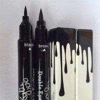 Wholesale 2016 New Arrival kylie double eyeliner Eyeliner Pencil waterproof Black and brown in DHL free opec supply