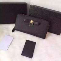 Wholesale promotional discount classic brand designer wallet women genuine leather high quality