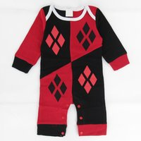 baby superhero costume - Infant Baby Toddler Girls Harley Quinn Romper Sleepsuit Costume Superhero Halloween Short Sleeves Playsuit Jumpsuit Cosplay