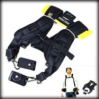 Wholesale by dhl or ems Double Shoulder Belt Strap For Canon Nikon Sony DSLR Quick Rapid Shooting Camera Double Shoulder Belt Strap