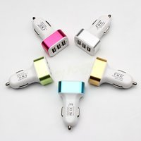 Wholesale For iPhone s car charger traver Adapter car plug hot selling Triple usb ports Car Charger with No package