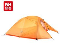 Wholesale 2016 New outdoor people tent Weatherproof Ultralight camping Aluminum pole tent Plaid Double Against rainstorms