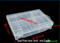 Wholesale 5pcs Home Organization box Bins PP Multi function AAA AA C D V Battery Container Holder Hard Plastic Case battery cell Storage Box Racks