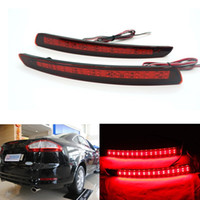 accessories ford fusion - 2pcs High Quality Auto Accessories Car Styling Rear Bumper Reflector Light Brake Warning Lamp For Ford Mondeo Fusion
