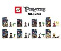 baby jones - 80pcs baby toys SY273 pirates of the caribbean Captain Jack Sparrow Davy Jones Maccus minifigures building block baby toys