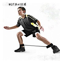 Wholesale 20 LB football soccer basketball volleyball side shuffle step agility leg unit strength training resistance bands