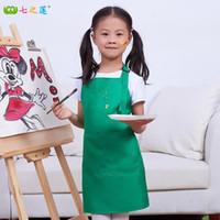 Wholesale Cute Kids Children Aprons Kitchen Pocket Craft Baking Dining Painting Apron Baby Art Cooking Bib Apron