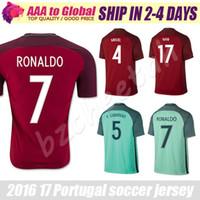 Wholesale Portogallo Jersey Camisetas de Futbol Portogallo RONALDO FIGO NANI Football Shirt Maillot de Foot Cristiano Ronaldo Soccer Jersey