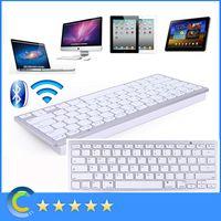Wholesale Universal Aluminum Bluetooth Wireless Keyboard For IPad air IPad mini IPhone S iMac PC For Galaxy S3 S4 keys Keyboards