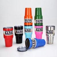 Wholesale 30 oz YETI Tumbler Rambler Cups Yeti Coolers Cup Yeti Sports Mugs Large Capacity Stainless Steel Travel Mug colors