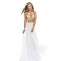 best rose pictures - 2016 New Arrival Best Selling Noble Beaded Sweetheart Chiffon White Rose Gold Sparkle Evening Dress Prom Gowns