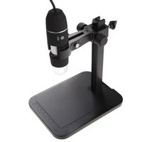 Wholesale Portable USB Digital Microscope X LED MP Digital Microscope Endoscope Magnifier Camera Lift Stand Calibration Ruler