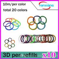 Wholesale 10pcs PLA D Printer Accessories Filament mm M Color Sample Pack D Pen Filament Refills YX CL