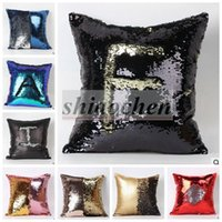 sofa cover - Sequins Pillow Case Tone Color Sofa Pearl Sequin Pillowslip Reversible Iridescent Glow Mesmerized Pillow Covers Home Decorative A112