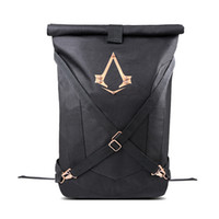 Backpack Style Unisex Cartoon New Design Assassins Creed Backpack Assassin's Creed Nylon Cosplay Rucksack Men Large Capacity Foldable Laptop School Bags for Teenagers
