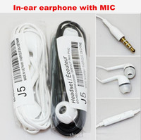 Wholesale Earphone In Ear Stereo mm Headphones Headset with Mic and Remote For android phone for Samsung Galaxy S4 S5 Note up