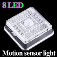 Wholesale 8 LED Light Lamp PIR Auto Sensor Motion Detector dropshipping