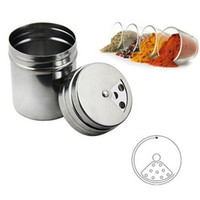 Wholesale 150pcs New Stainless Steel Spice Sugar Salt Pepper Storage Bottle Shaker Can Kitchen Cooking Barbecue Tool ZA0743