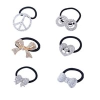 Wholesale Hot pc Ponytail Ties Hair Hoop Butterfly Peace Sign Bow Knot Flower Star Head Band Women Girl Hair Jewelry