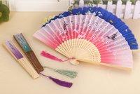 Wholesale 2016Japanese women s summer wind Chinese fan fan fan cherry lovely female classical daily dance fan fan folding fanFolding fan