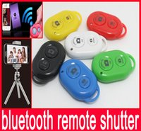 Wholesale Bluetooth Remote Shutter Selfie Self pole Smart phones Remote Camera Control Wireless Self timer Shutters for Selfie Monopod Sticks