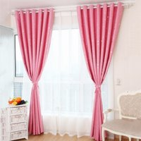 Wholesale Hot Sales Modern Lovely Printed Stars Blackout Window Curtain Boys Girls Home Textile Shade Eyelet Draperies JI0147