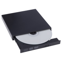 Wholesale 2016 HOT selling New USB External DVD Combo CD RW Burner Drive CD RW DVD ROM Black Promotion